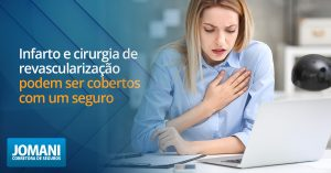 Infarto e cirurgia de revascularização podem ser cobertos com um seguro